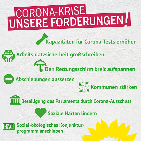 Die Antwort der Grünen im Landtag auf Corona